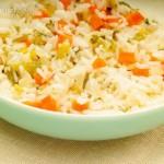 Guiso de vegetales con arroz