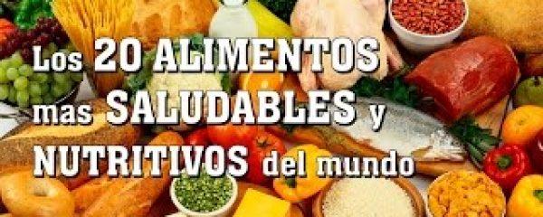 Los 20 ALIMENTOS más SALUDABLES y NUTRITIVOS del mundo. Comida y Nutrición saludable