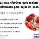 dieta balanceada para bajar de peso ¡SI! dieta balanceada para bajar de peso