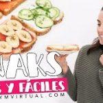 RECETAS FÁCILES 5 IDEAS   SNACKS – SANDWICHES SALUDABLES