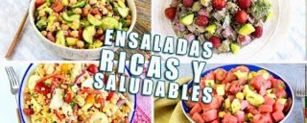 4 ENSALADAS RICAS, FÁCILES Y SALUDABLES!